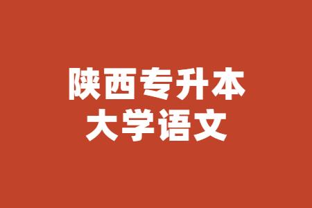 陕西专升本大学语文